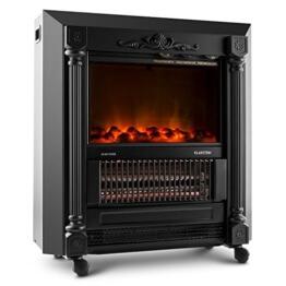 Klarstein Grenoble Elektrischer Kamin Kaminfeuer Kaminofen (1850W, Flammeneffekt, zuschaltbarer Heizlüfter) schwarz 1850W - 1