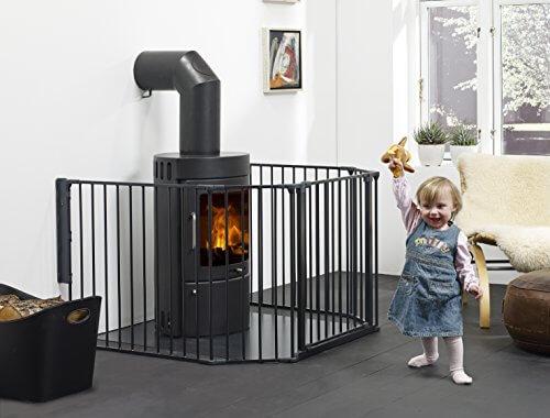 Baby Dan Konfigurationsgitter / Kaminschutzgitter Flex XL 90 - 278 cm, Schwarz - Hergestellt in Dänemark und vom TÜV GS geprüft - 2