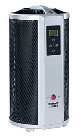 Einhell Wärmewellen Heizung WW 2000 R (2000 Watt, Mica Heizelement, Thermostat, Fernbedienung, Timer, Kippschutz, Abschaltautomatik) -
